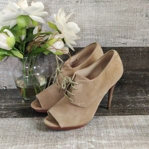 Michael Kors Suede open toe heeled booties